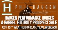 Phil Haugen Horse Sale