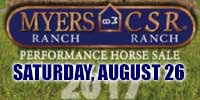 Myers Ranch CSR Ranch Performance Horse Sale